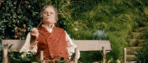 Bilbo smoking pipe in the Shire